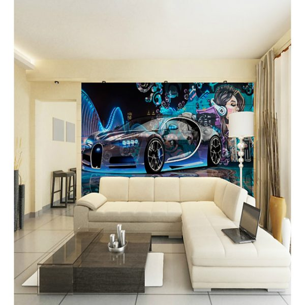 Custom Sci-Fi Car Beauty Large Wall Covering Mural Wallpaper Suitable for Office Bedroom Restaurant Technology #06706068