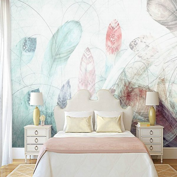 Wallpaper / Mural Canvas Wall Covering - Adhesive required Painting / Art Deco / Tile #06981844