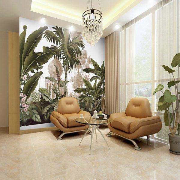 Tropical Rainforest Plant Suitable for TV Background Wall Wallpaper Murals Living Room Cafe Restaurant Bedroom Office XXXL(448*280cm) #07323611
