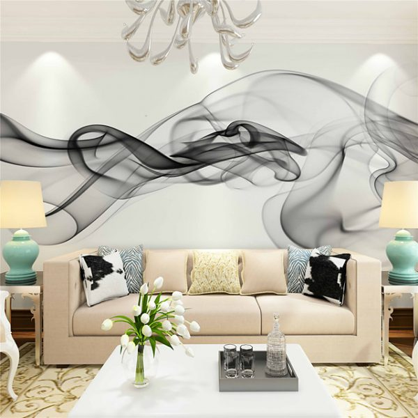 Mural Canvas Wall Covering - Adhesive required Floral / Art Deco / 3D #05522077