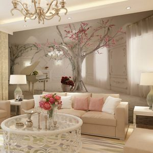 Mural Canvas Wall Covering - Adhesive required Floral Art Deco 3D #05528288