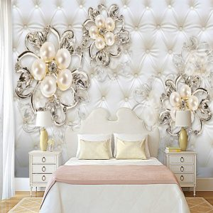 Soft bag of pearl flowers Suitable for TV Background Wall Wallpaper Murals Living Room Cafe Restaurant Bedroom Office XXXL(448*280cm #07323637